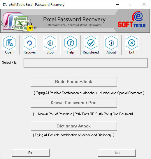 Recover Excel Password Shareware